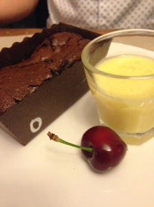 2014-05-17 Provence Apt Thym te Voila chocolate cake with olives