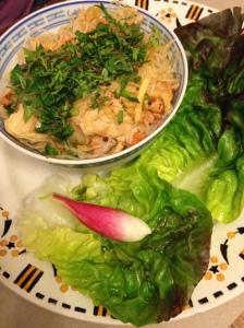 2014-05-17 Provence Apt Thym te Voila thai noodle salad