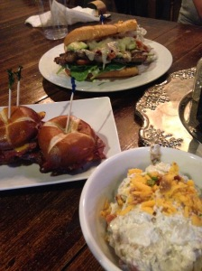 2015-07-02 Clarksville Miss Lucille's loaded potato salad and sliders