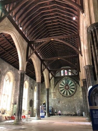 2018-08-06 Winchester Great Hall remains of Winchester Palace - Round Table 5